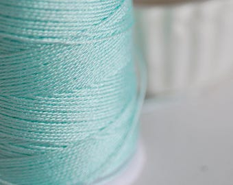 Aqua Green metallic thread 0.8mm - 1 meter