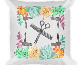 Square Pillow - hair salon pillow