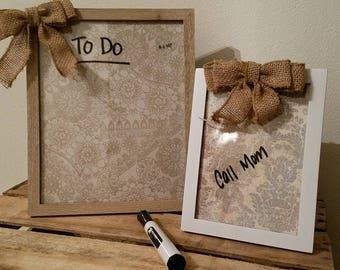 Dry Erase Memo Board, Message Board, To-Do List