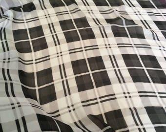 Chiffon black and white Plaid a 150 l