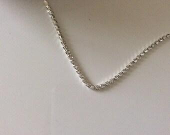2.5 mm ss8 dense silver Crystal rhinestone