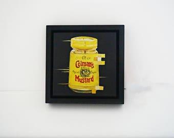 Coleman's Mustard; Original Art; Framed; Oil on Canvas