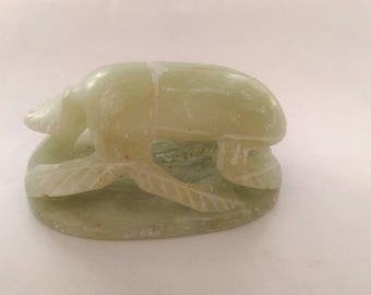 Soapstone Carving of Scarab Beetle