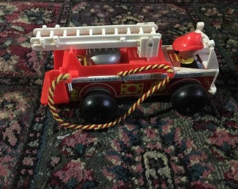 Vintage Fisher Price Fire Engine, 1968