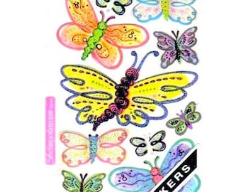 Stickers Sticko EK Success 17 x 10 cm creative cardmaking scrapbooking vellum butterflies