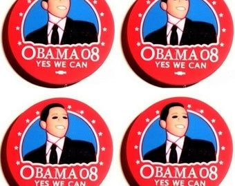 1 pine shoe charm clip type Jibbitz Barack Obama Yes We Can fangs or any other garment decoration shoe bag