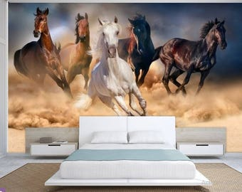 animals wall mural, wall mural horse, wildlife wall mural, self-adhesive vinly, hors wall mural, horse , horse wallpaper, wall decal hors