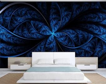 royal blue wallpaper, royal blue wall decal, royal wallpaper, self-adhesive vinly, blue color wall mural, wall decal, abstract wallpaper