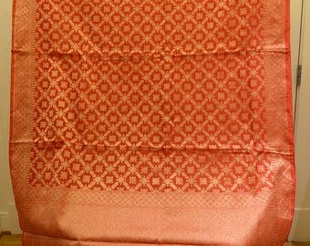 Handwoven Pure Kota Silk cotton saree - Free shipping in US