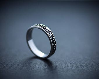 Moon Sterling silver Ornament ring