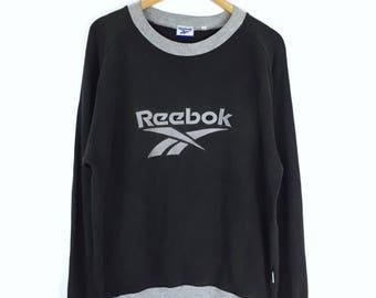 Rare!!! Vintage 90s Reebok Sweatshirt Reebok Big Logo Spellout Embroidery Sweatshirt Pullover Jumper Sweater International Sport Sportwear