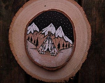 Tipi on wood