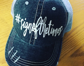 Harry Styles Sign of the Times Distressed Trucker Hat-New 2017