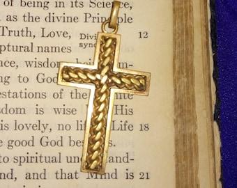 Small Cross Pendant, Religious Jewellery, Gold Cross, Necklace Pendant, Small Crucifix