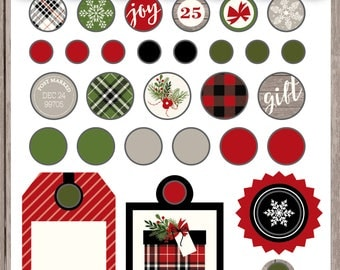 Christmas Delivery Decorative Brads- Carta Bella Paper