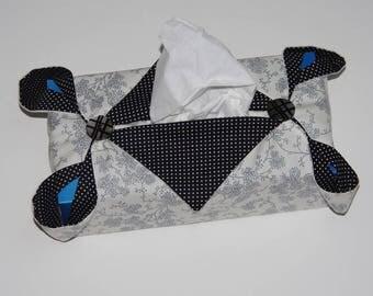 Black & white kleenex box cover
