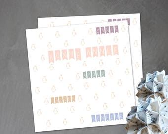 Trendy and soft square greeting card