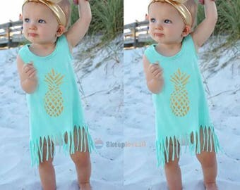 Mint pineapple dress