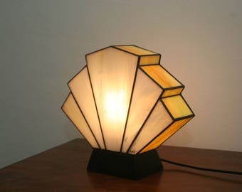 Lamp Art Deco stained glass Tiffany Flabellum Mimosa