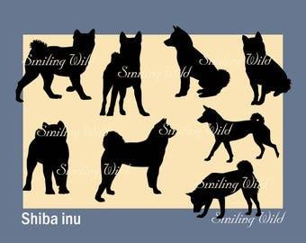 shiba inu svg silhouette vector graphic file shiba art dog printable commercial use shiba png cutout digital dog dog lovers gift