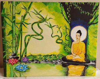 ZEN Buddha in zen nature painting
