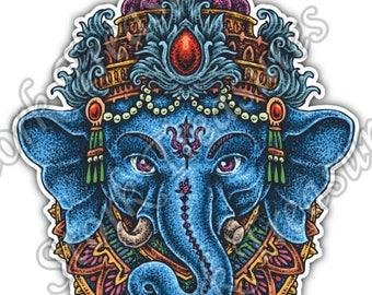 Elephant Ganesha India God Hinduism Faith Car Bumper Vinyl Sticker Decal