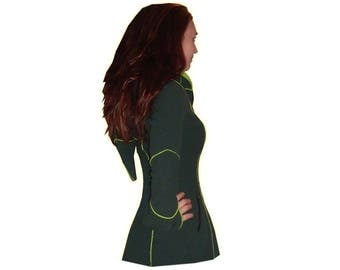 GREEN pointy hood PLUS SIZE jacket xl 2xl 3xl 4xl 5xl cyber