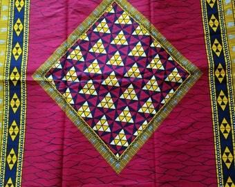 Red African Fabric; Ankara Fabric; African Clothing; African Fabric in yard; African Headwrap;Ankara Fabric in yards; Ankara; Red Fabric