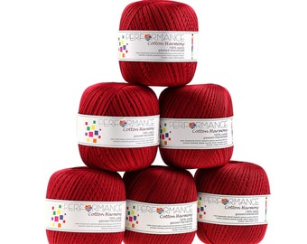6 x 100 g yarn cotton harmony #363 Red