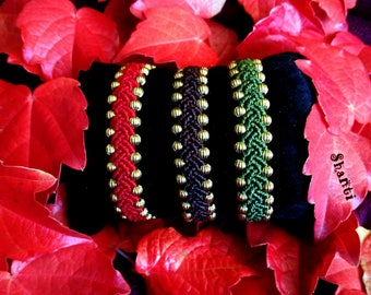 Colorful seed beads bracelets