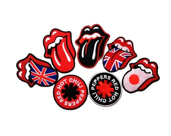 Music Band Sew Iron On Patch Badge Embroidered Metal Rock Punk Metal Patch DIY