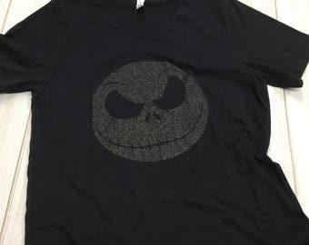 Adult Halloween Jack Skellington Nightmare Before Christmas v-neck tee shirt