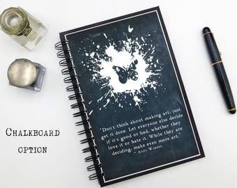 Art Notebook, Andy Warhol, Sketchbook, Hardcover Notebook, Spiral Notebook, Blank Lined, Bullet Journal