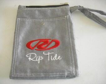 bag, pouch in silver gray denim mens RIP TIDE