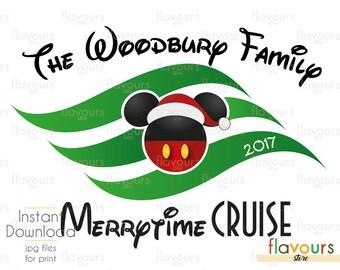 MerryTime Cruise 2017 - Disney - Family Vacation - Disney Iron On Transfer - DIY Disney Shirts - INSTANT DOWNLOAD