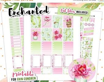 OMG SALE Printable Planner Stickers, Summer Planner Stickers, Erin Condren Vertical Planner, Floral Printable Planner, Printable Sticker