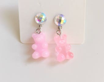Gummy Bear Earrings (Pink)