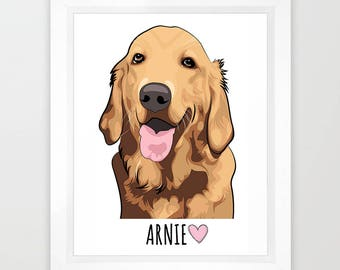 Custom pet portrait Custom dog portrait Pet illustration Pet memorial Cartoon pet portrait Portrait dog custom Pet custom drawing Dog custom