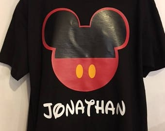Mickey Mouse Dad bday shirt for kids.