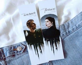 Shatter Me set | Warner & Juliette bookmarks