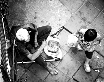 Generations in the streets of Bangkok, photo, imprimable, street art, print, décoration, tableau, poster, glossy paper, thailand