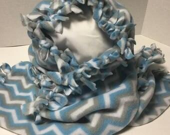 blue fleece scarf