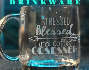 Custom Etched Drinkware