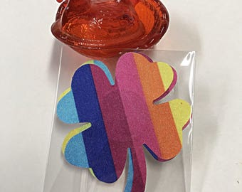 Nipple Pasties - St Patricks Day -  Rainbow Breast Petals - Nipple Covers - OilPatchBurlesque - LGBT