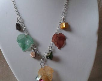 """stunning necklace """"the colors of autumn leaves"""""""