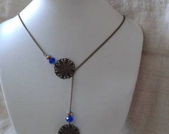 "necklace ""double floral carved prints"""