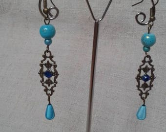"Earrings ""life in blue"""