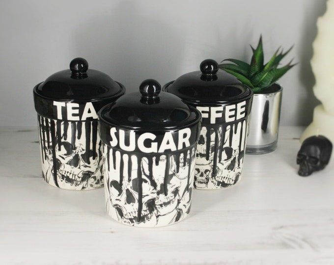 Kitchen Storage Canisters, Tea Coffee Suger Jars