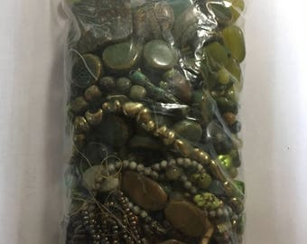 Green Turquoise colored beads for jewelry making