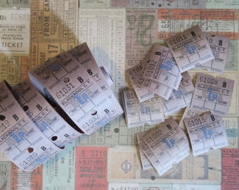 30 Vintage Bus Tickets Purple Grey Blackpool C.T.